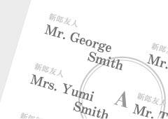 席次表と席札の肩書き・名前を外国語で表記