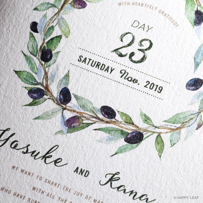 結婚式 招待状 Olive 2