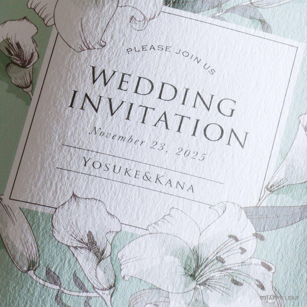 結婚式 招待状 noble 2