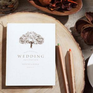 結婚式 招待状 シンボルツリー イメージ