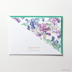 結婚式 招待状 Gladiolus グリーン