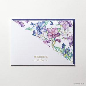 結婚式 招待状 Gladiolus ネイビー