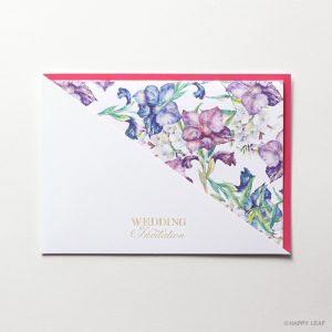 結婚式 招待状 Gladiolus レッド