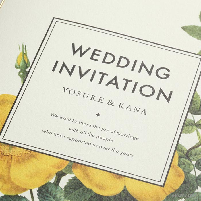 結婚式 招待状 Dear 3