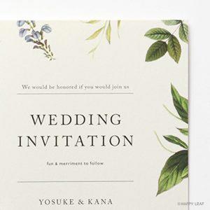結婚式 招待状 verde イメージ