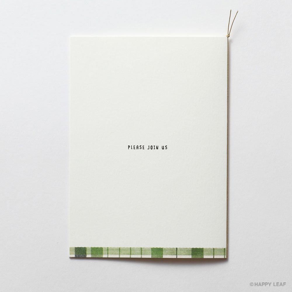 結婚式 招待状 Natural -green- 3