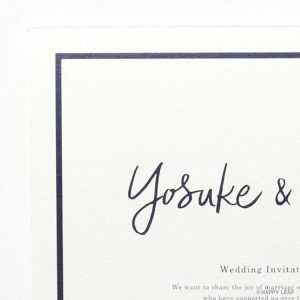 結婚式 招待状 Glassy ホワイト イメージ