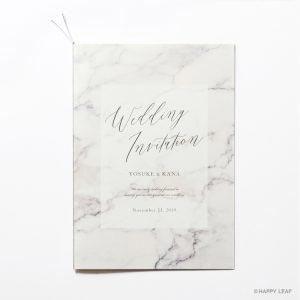 結婚式 招待状 MARBLE Gray