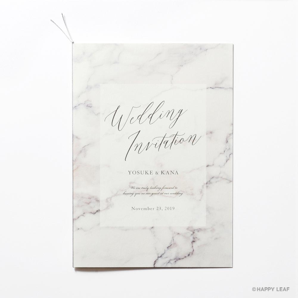 結婚式 招待状 MARBLE Gray 2