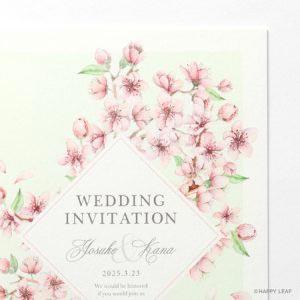 結婚式 招待状 plaisir グリーン イメージ
