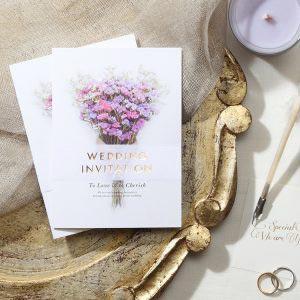 結婚式 招待状 スターチス イメージ