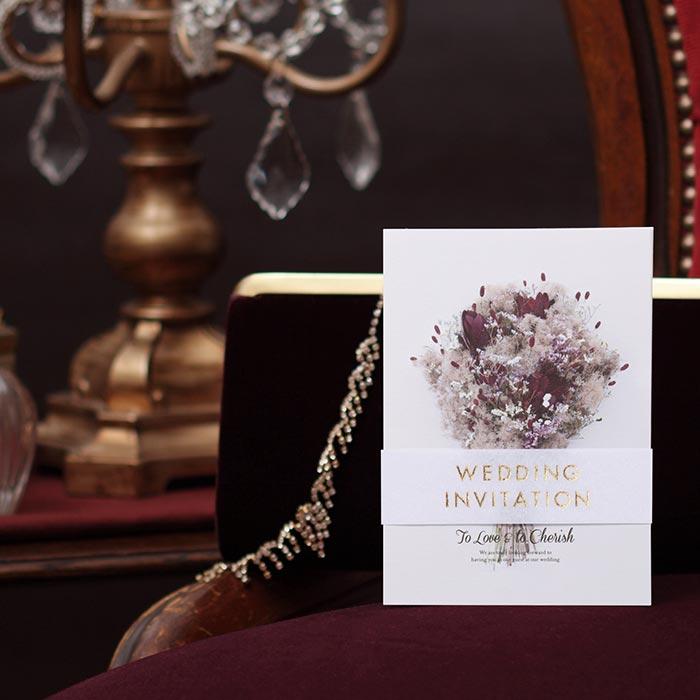 結婚式 招待状 スモークツリー 1