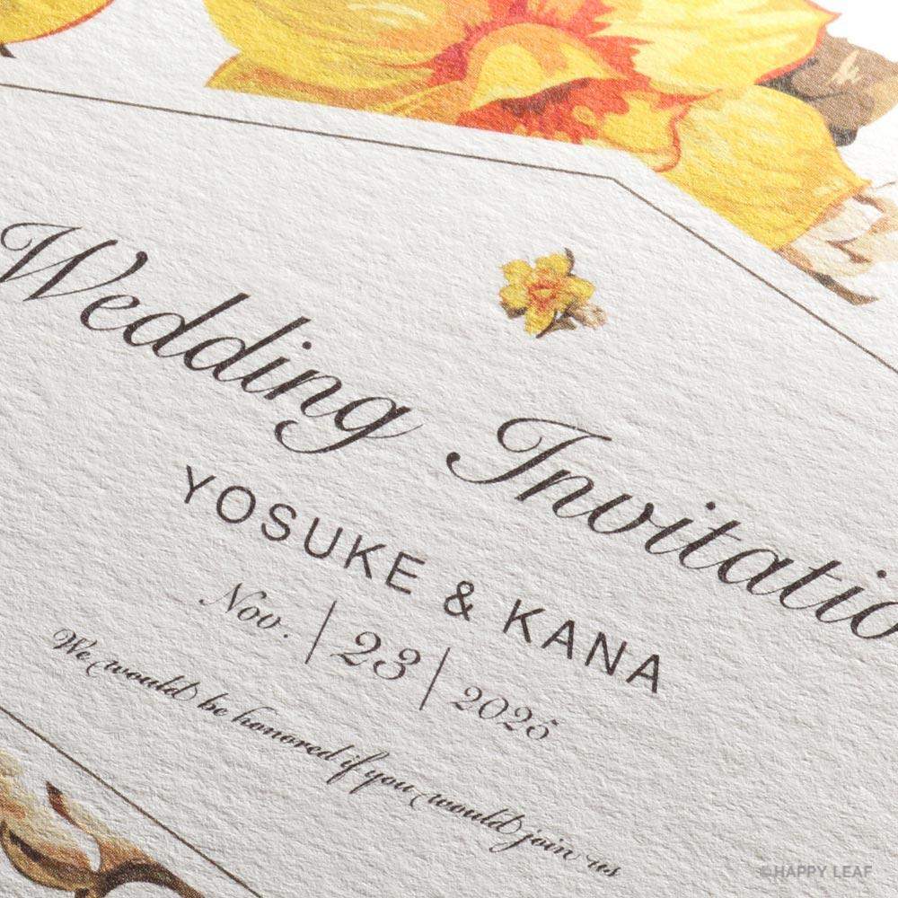 結婚式 招待状 canary 2