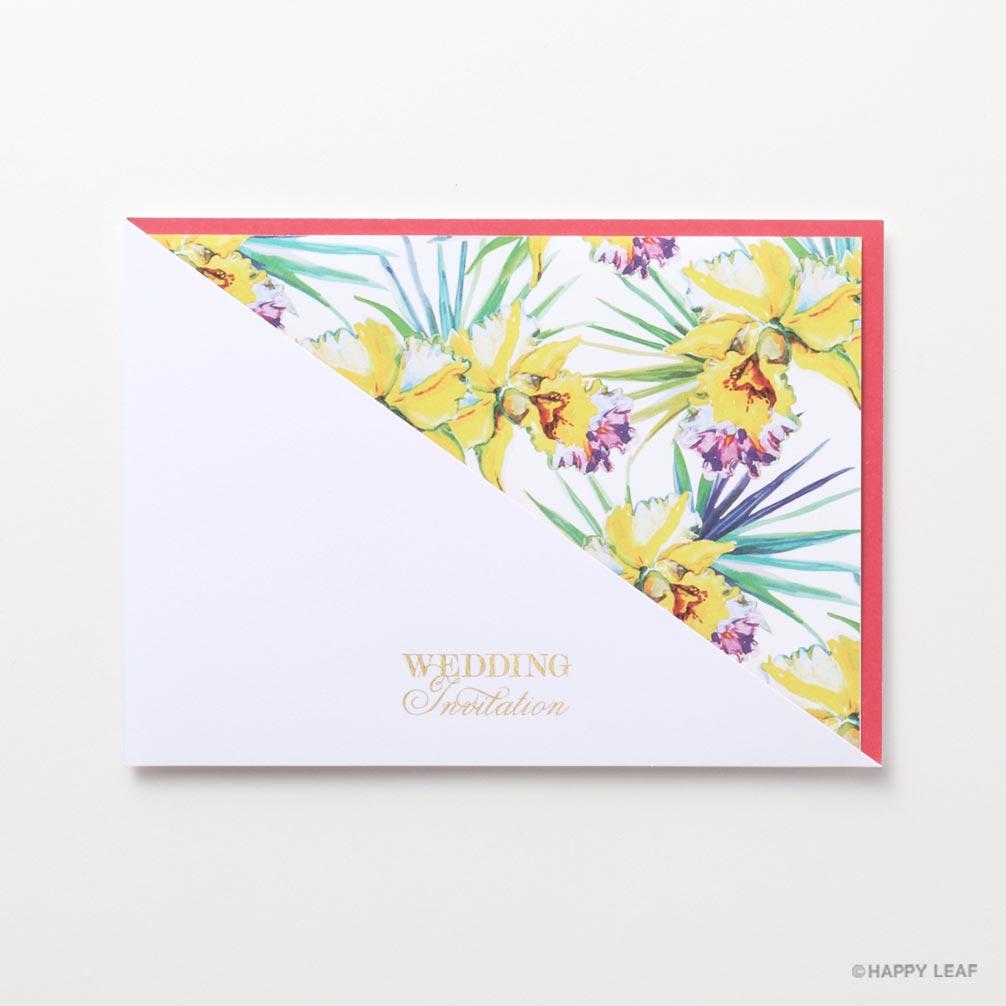 結婚式 招待状 カトレア 4