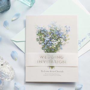 結婚式 招待状 デルフィニウム イメージ