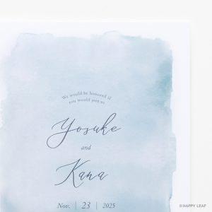 結婚式 招待状 Reve ニコルブルー イメージ