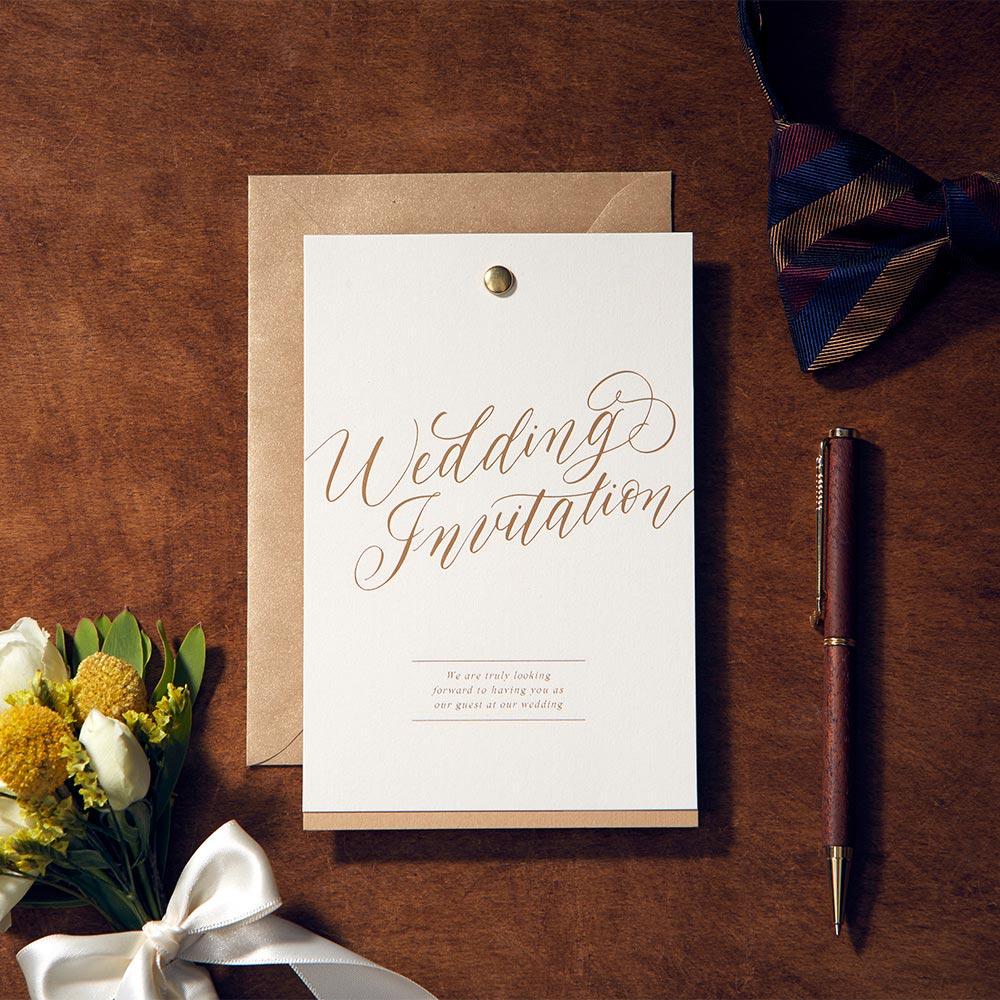結婚式 招待状 Jouer minimal 1