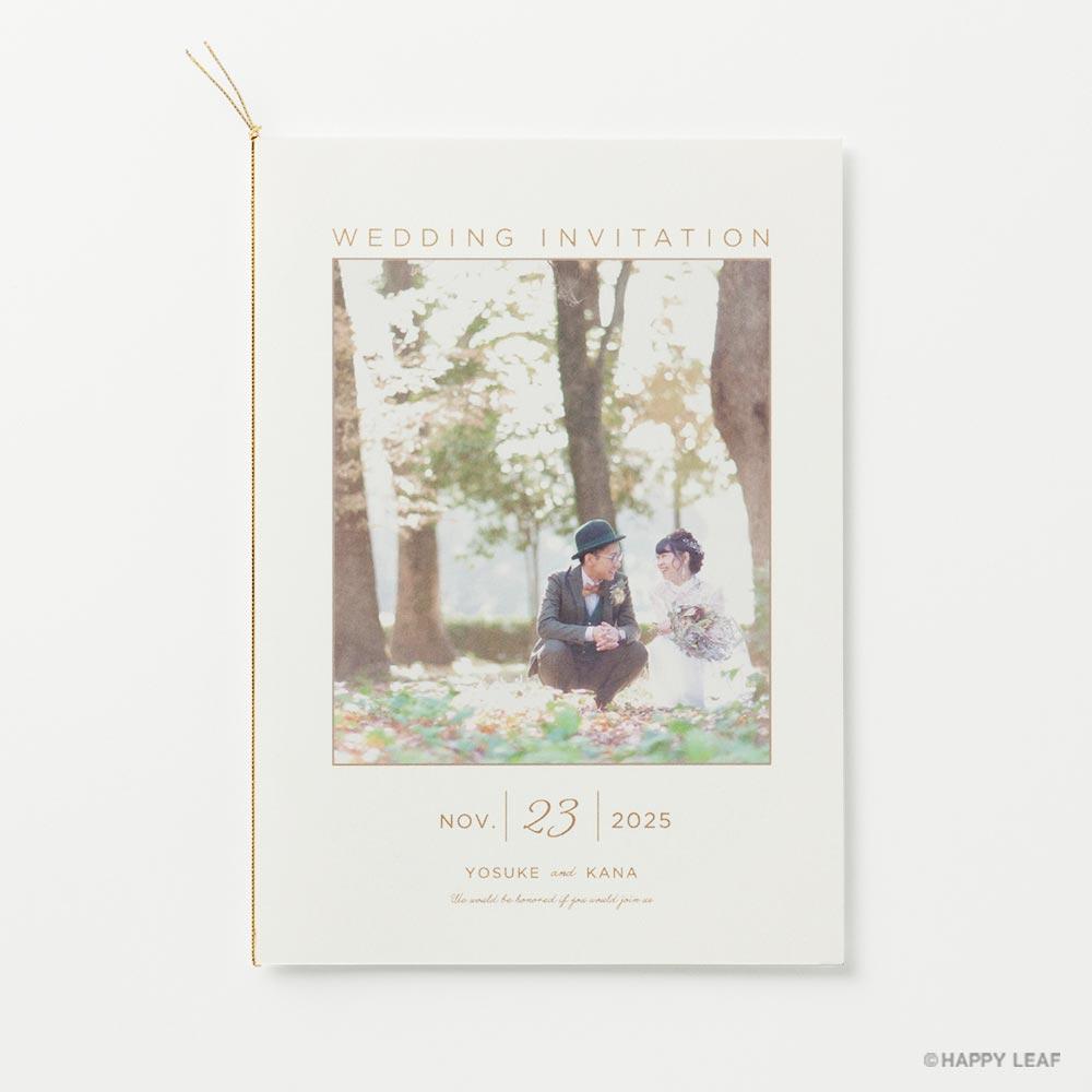 結婚式 招待状 DAYS 1