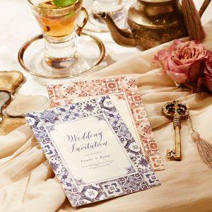 結婚式 招待状 Morocca フェズブルー イメージ