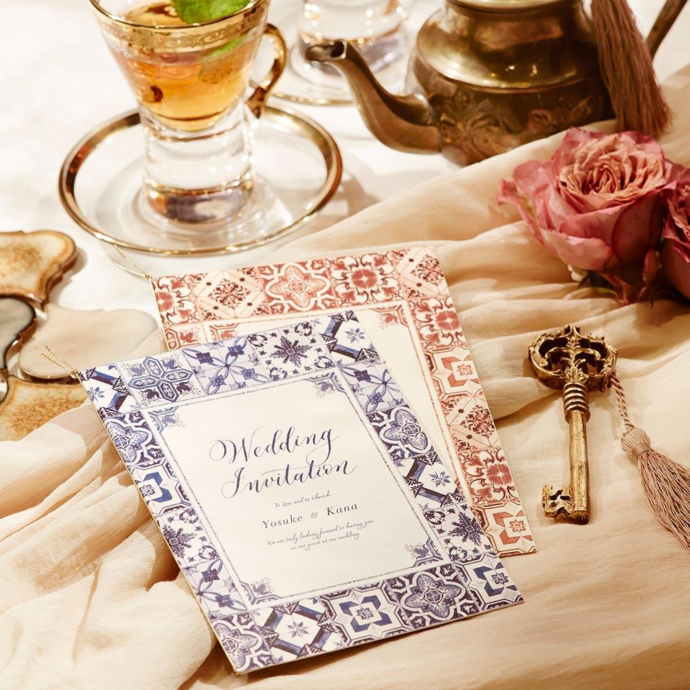 結婚式 招待状 Morocca フェズブルー 1