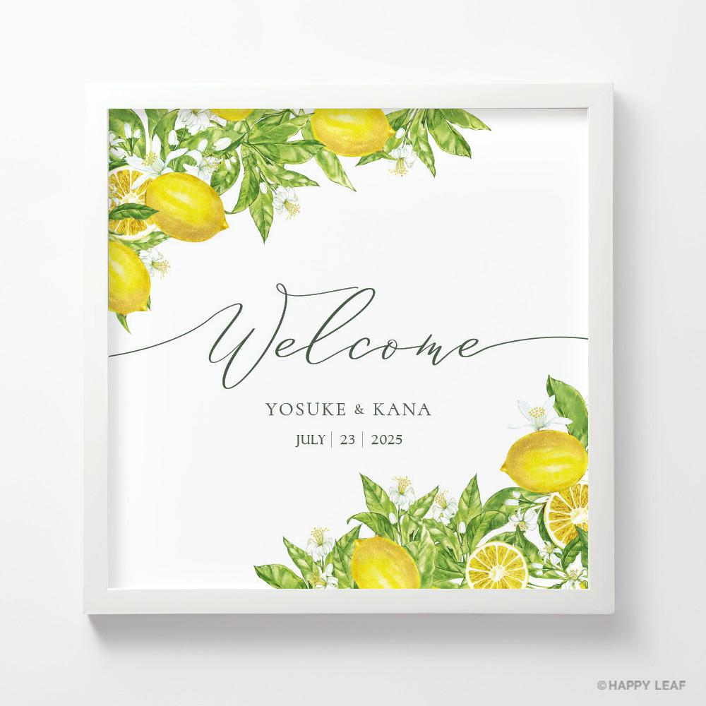 ウェルカムボード Lemon 1