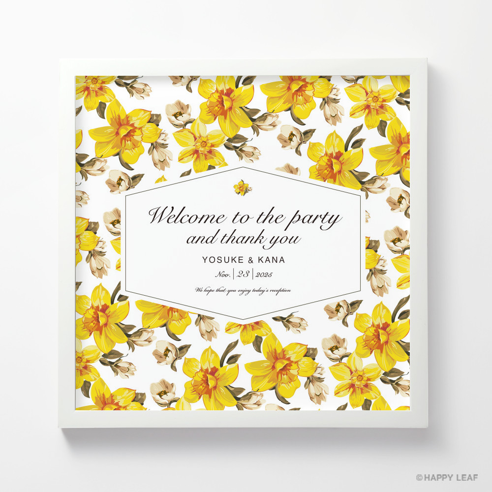 ウェルカムボード canary 1