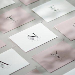 結婚式 招待状 Bonheur スノー イメージ