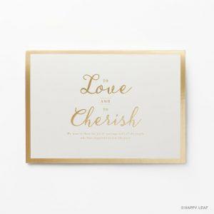 結婚式 招待状 Cherish ホワイト