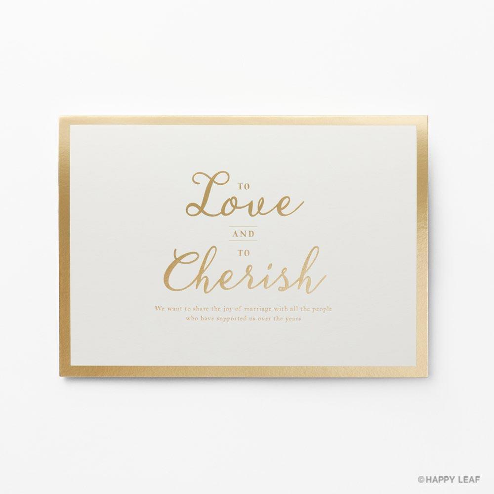 結婚式 招待状 Cherish ホワイト 2