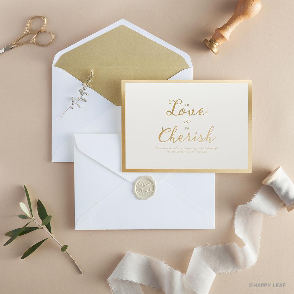 結婚式 招待状 Cherish ホワイト 12
