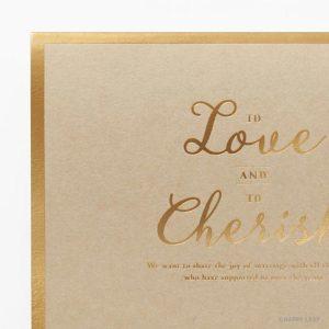結婚式 招待状 Cherish クラフト イメージ
