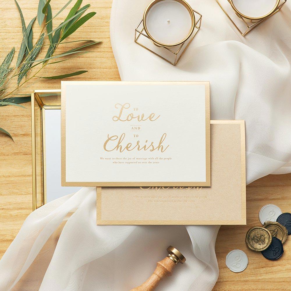 結婚式 招待状 Cherish ホワイト 1