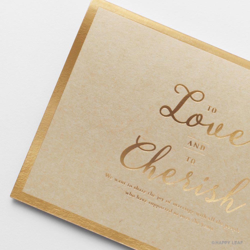結婚式 招待状 Cherish クラフト 2