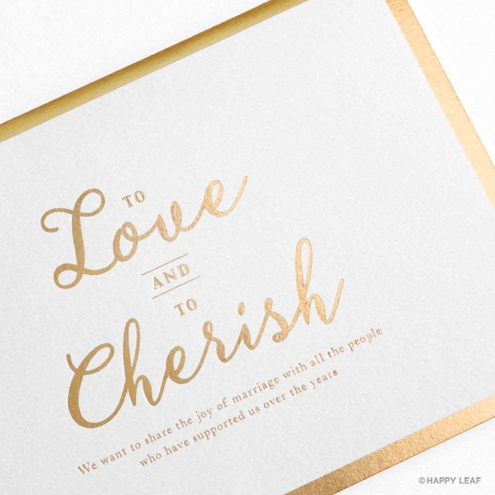 結婚式 招待状 Cherish ホワイト 3
