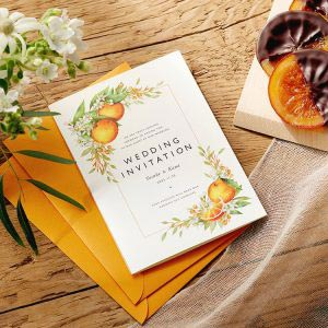 結婚式 招待状 Orange イメージ