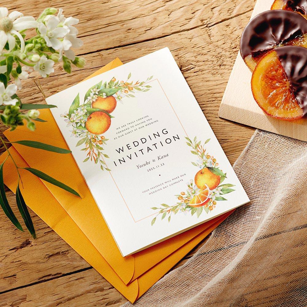 結婚式 招待状 Orange 1