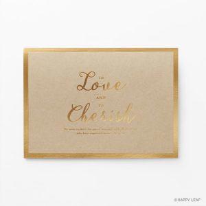 結婚式 招待状 Cherish クラフト