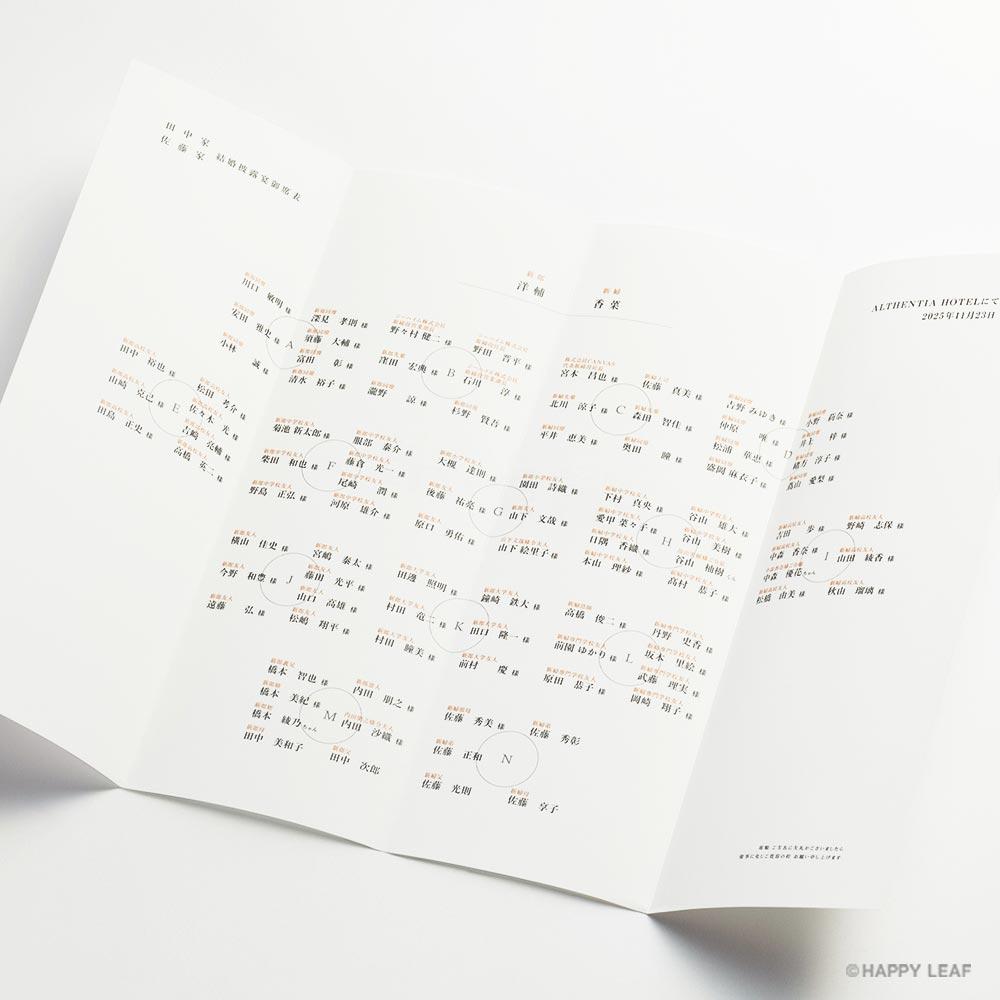 席次表 ICHIMATSU – 朱 2