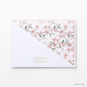 結婚式 招待状 fleurir フレッシュピンク