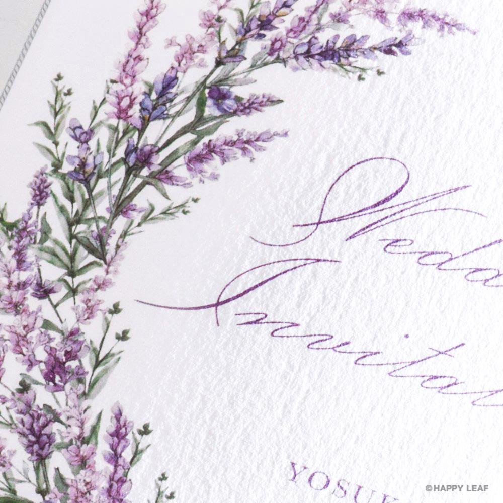 結婚式 招待状 Lavande 3