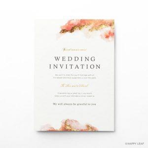 結婚式 招待状 Dew