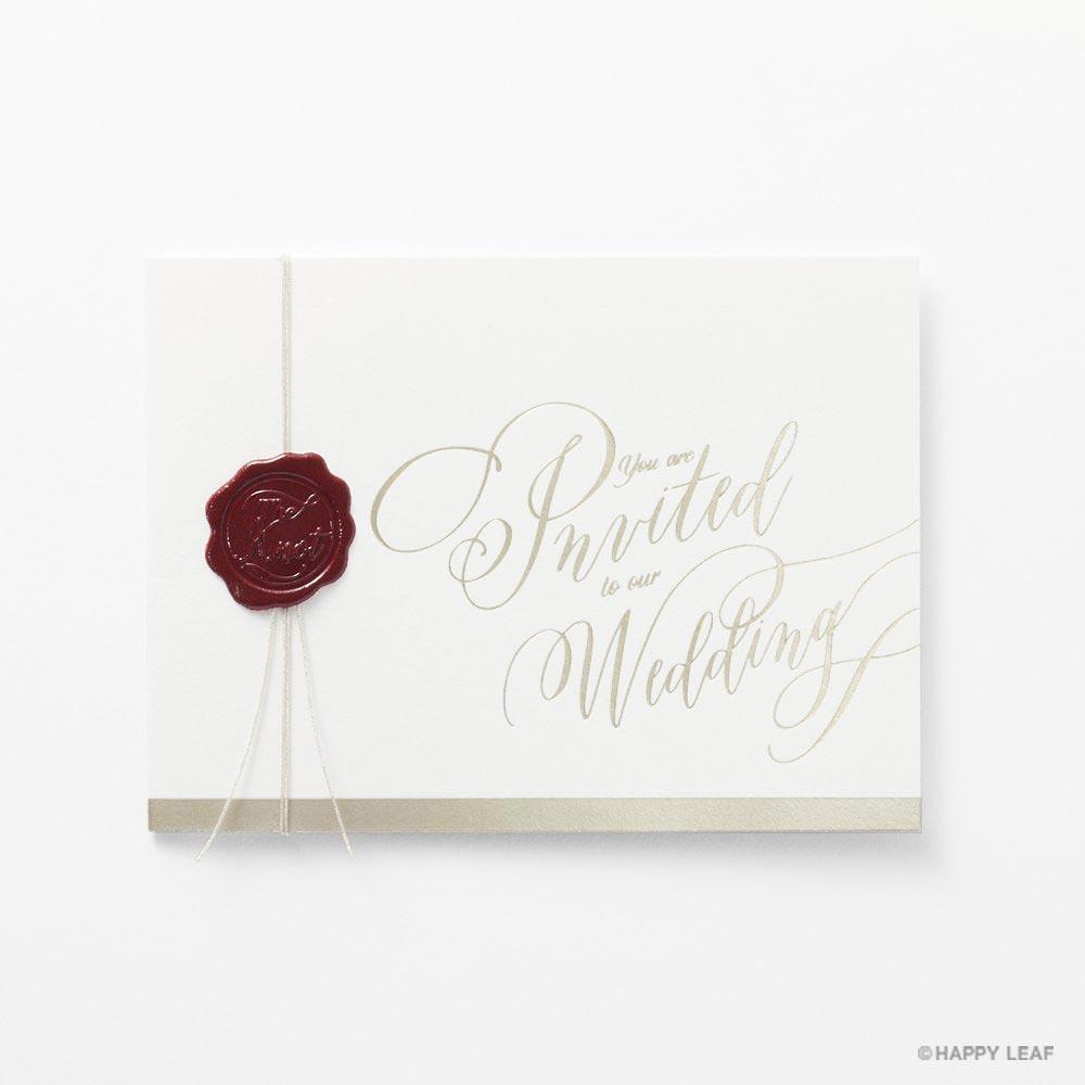 結婚式 招待状 Vino rosso 2