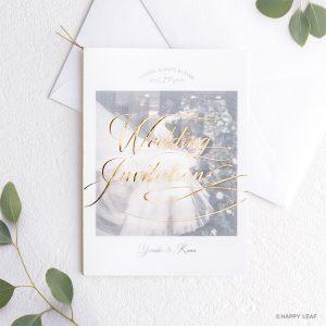 結婚式 招待状 Felice ゴールド