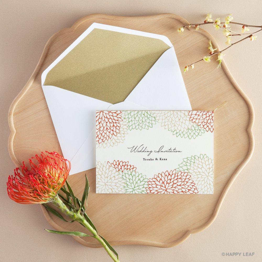 結婚式 招待状 Dahlia レッド 10