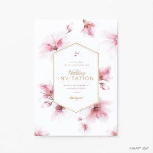 結婚式 招待状 bloom