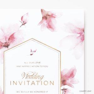 結婚式 招待状 bloom イメージ