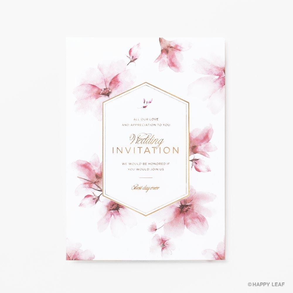 結婚式 招待状 bloom 1