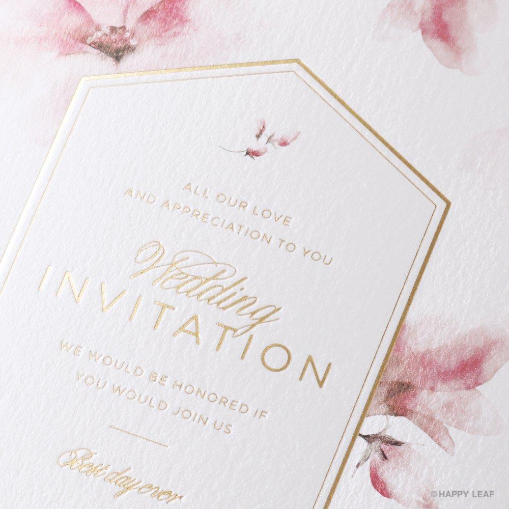 結婚式 招待状 bloom 2