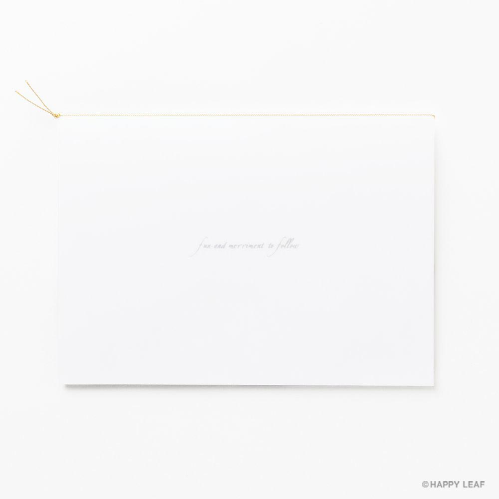 結婚式 招待状 Toujours ゴールド 8