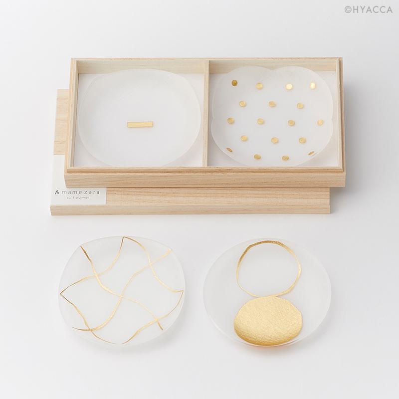 引き出物 箔 豆皿/い/4枚セット[トウメイ]